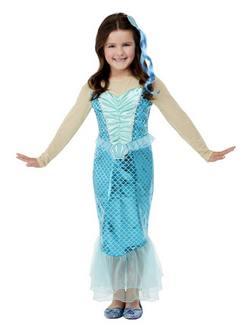 Kék Sellő Kislány Jelmez