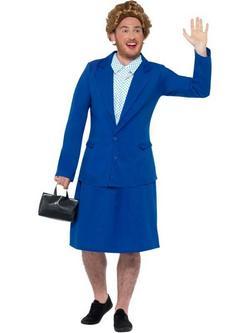 Kék Vaslady Brit Miniszterelnök Jelmez Férfiaknak - M