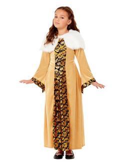 Középkori Grófnő Kislány Jelmez
