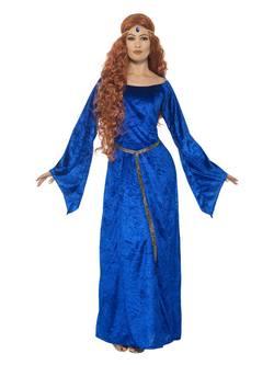Kék Középkori Női Jelmez