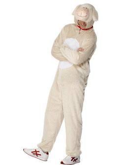 Krémszínű Bárány Férfi Jelmez