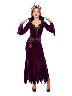 Lila Bársony Gonosz Királynő Női Jelmez Halloweenre