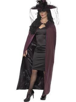 Lila-Fekete Kifordítható Boszorkány Köpeny