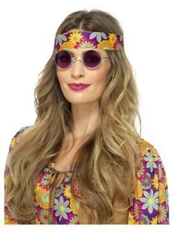 Lila Hippi Szemüveg