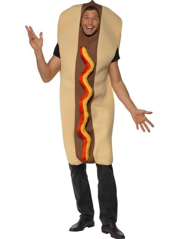 Barna Hot Dog Jelmez Felnőtteknek - M