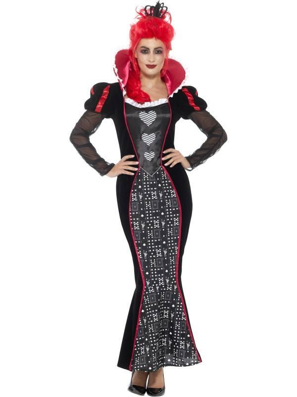 Barokk Sötét Úrnő Jelmez Koronával Halloweenre ? L