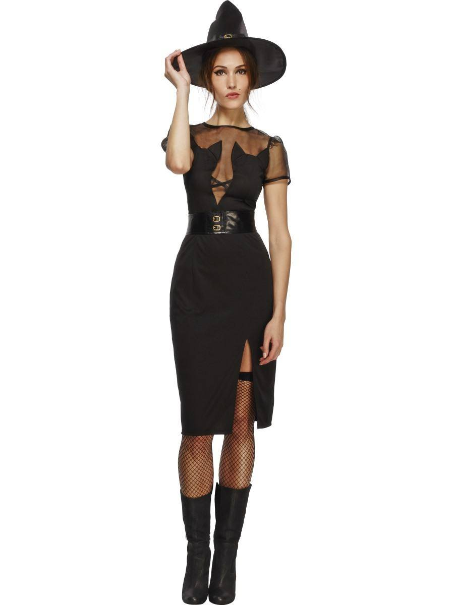Fekete Cica Boszorkány Jelmez Nőknek Halloweenre