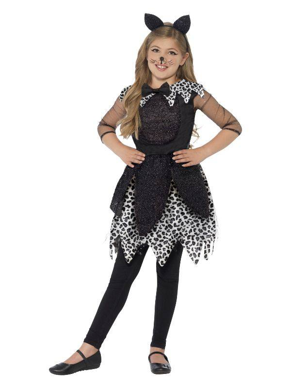 Fekete Cica Jelmez Kislányoknak