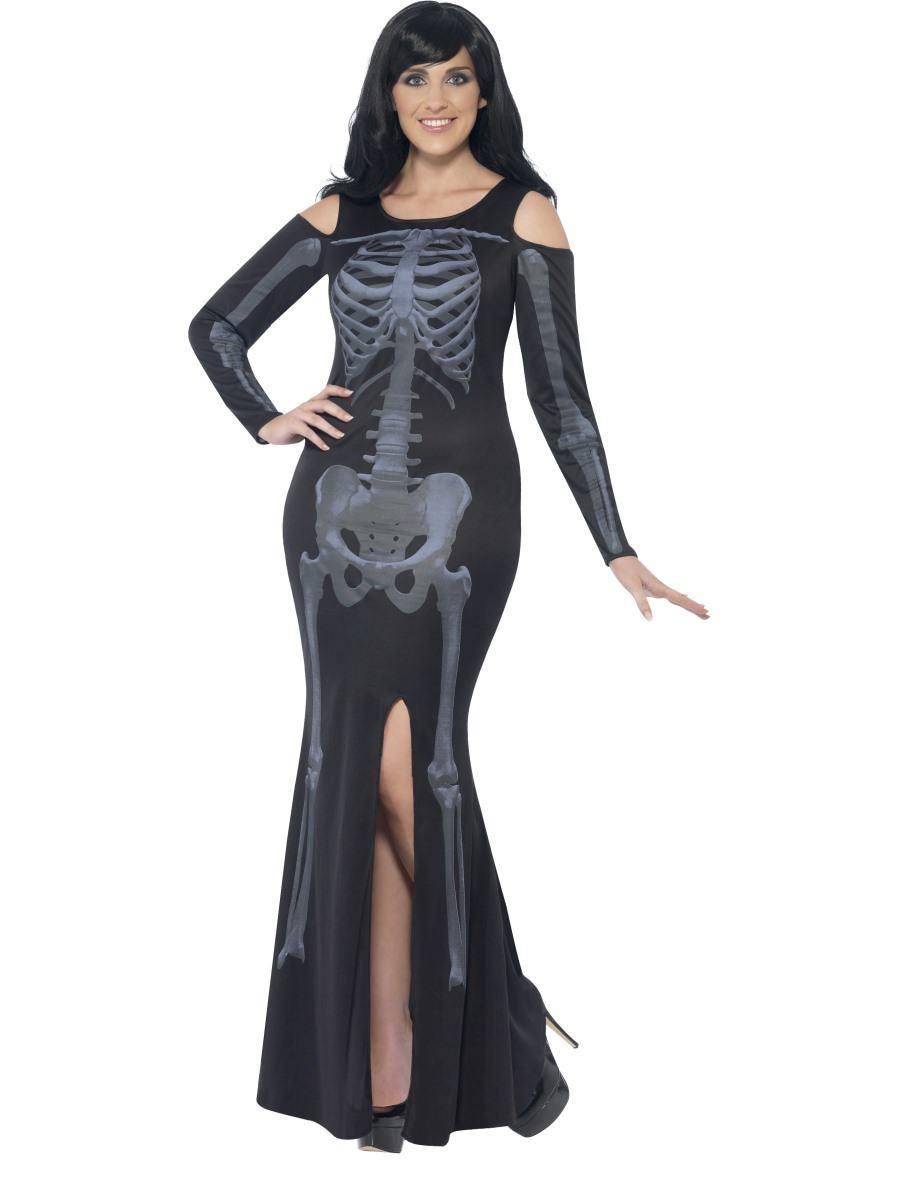 Fekete Csontváz Jelmez Nőknek Halloweenre