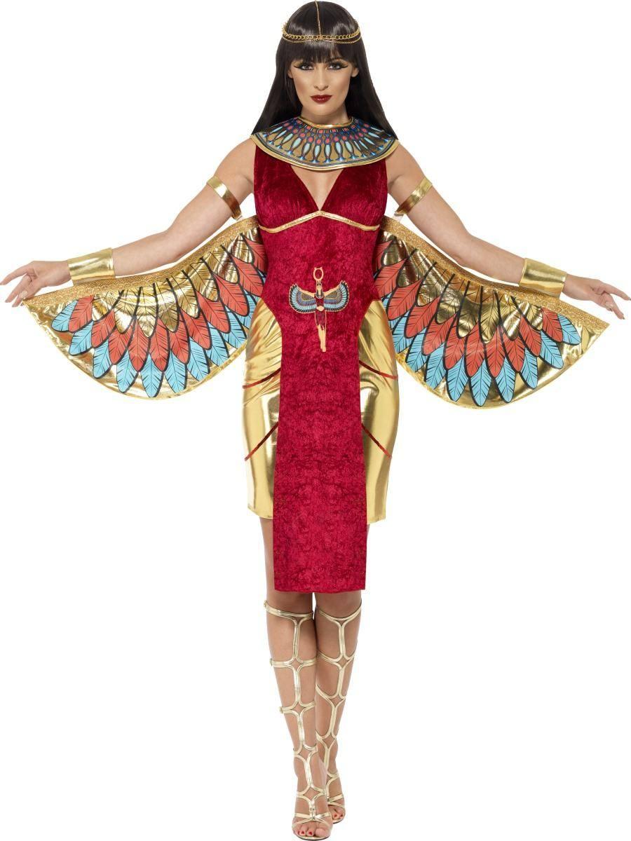 Piros Egyiptomi Istennő Jelmez Nőknek