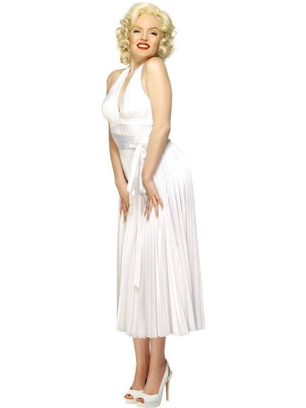 Szexi Fehér Marilyn Monroe Jelmez Nőknek Ruhával