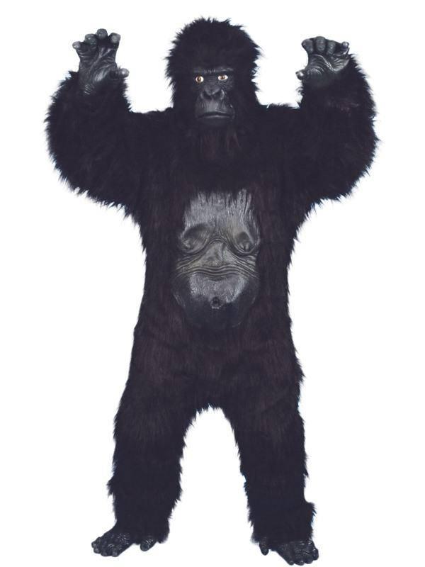 Fekete Különleges Gorilla Férfi Jelmez