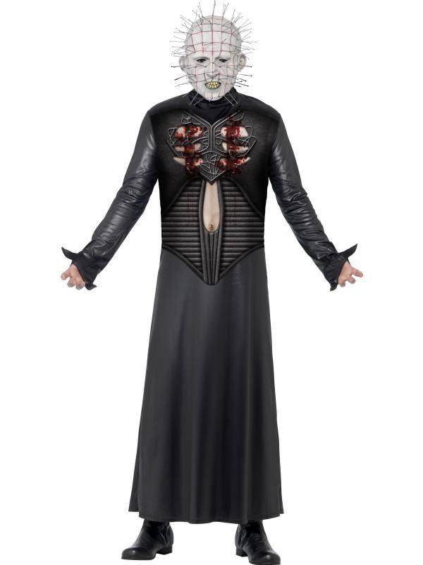 Fekete Hellraiser Pokolról Pokolra Pinhead Jelmez Férfiaknak Tunikával és Maszkkal - M