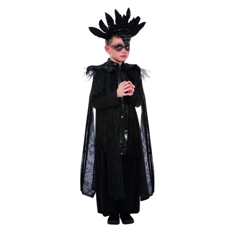 Fekete Holló Jelmez Kisfiúknak Halloweenre - L