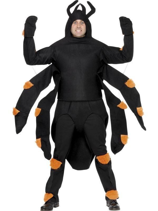 Fekete Pók Jelmez Férfiaknak Felsővel és Potrohhal
