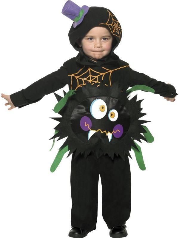 Fekete Pók Jelmez Gyerekeknek Kapucnival