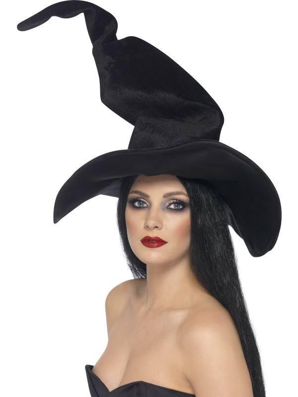 Fekete Velúr Boszorkány Kalap