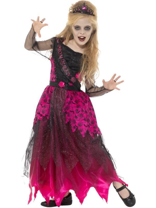 Gótikus Kislány Bálkirálynő Jelmez Tiarával Halloweenre ? L