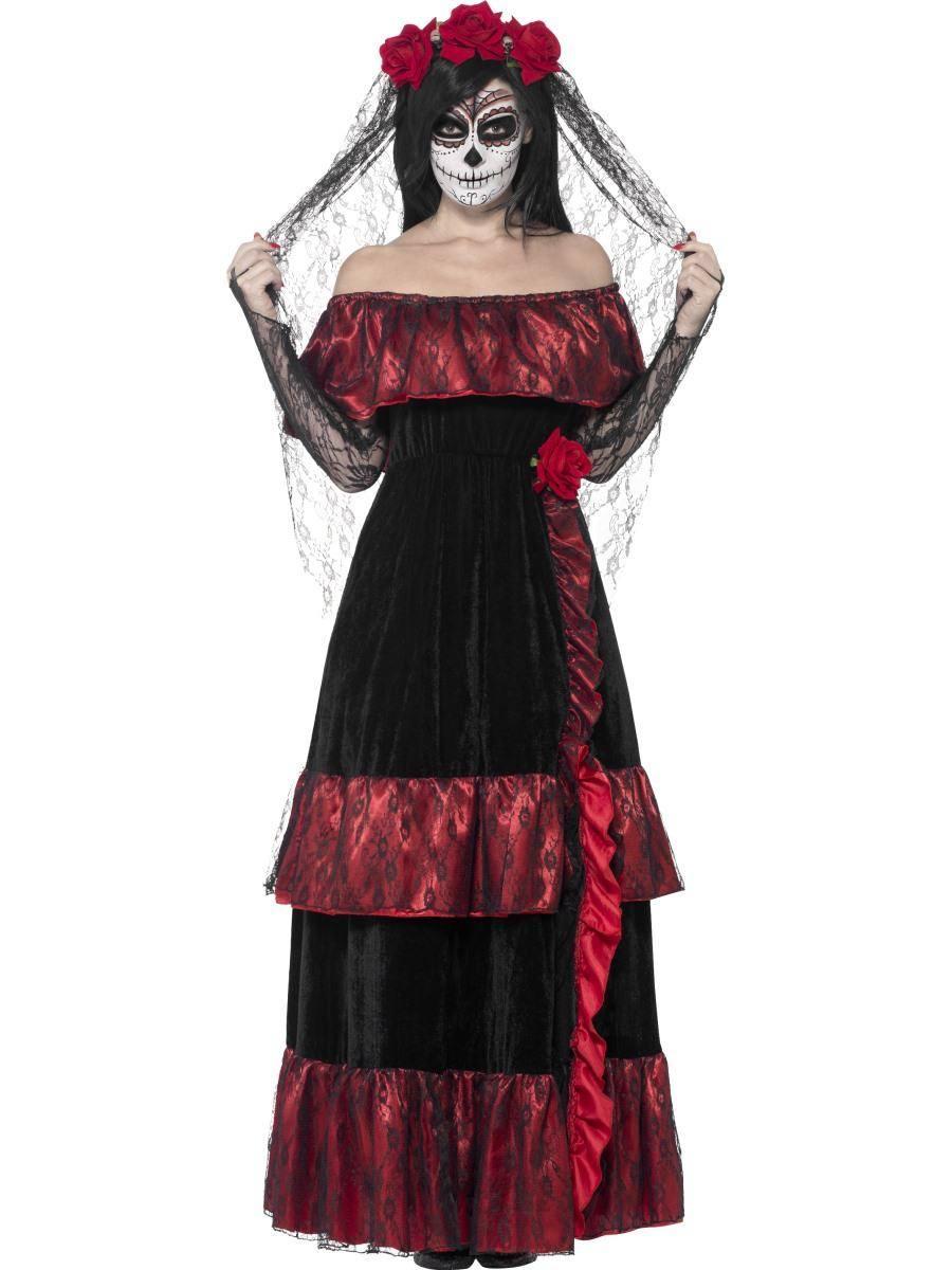 Fekete Halott Menyasszony Jelmez Nőknek Halloweenre