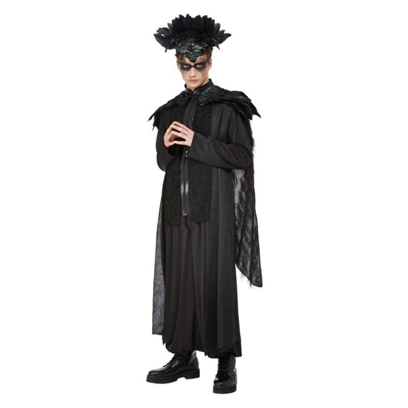 Fekete Holló Jelmez Férfiaknak Halloweenre - XL