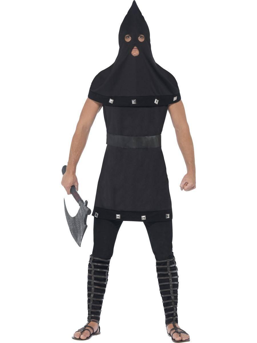 Fekete Kivégző Jelmez Férfiaknak Halloweenre