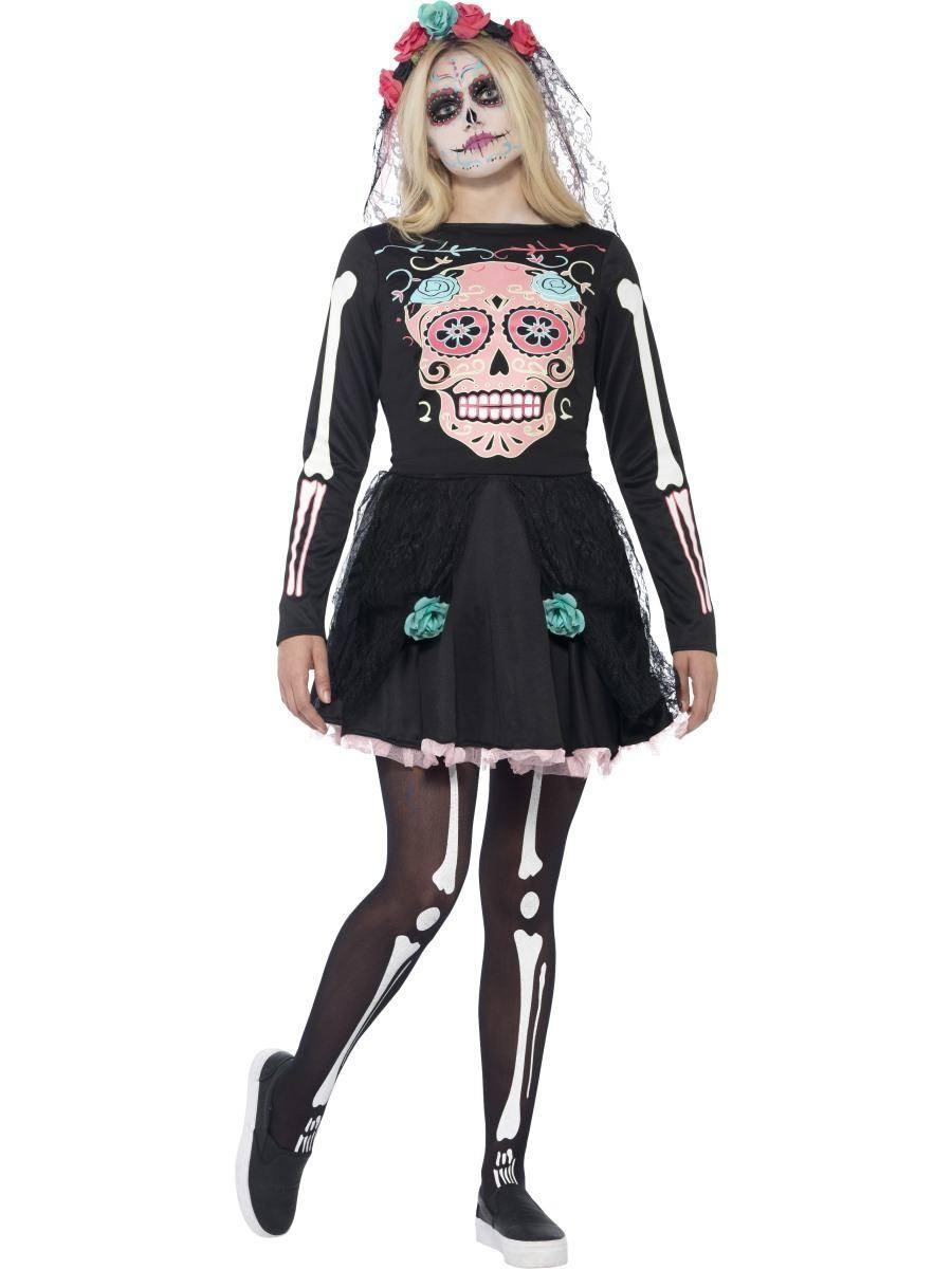 Fekete Koponyamintás Jelmez Nőknek Halloweenre