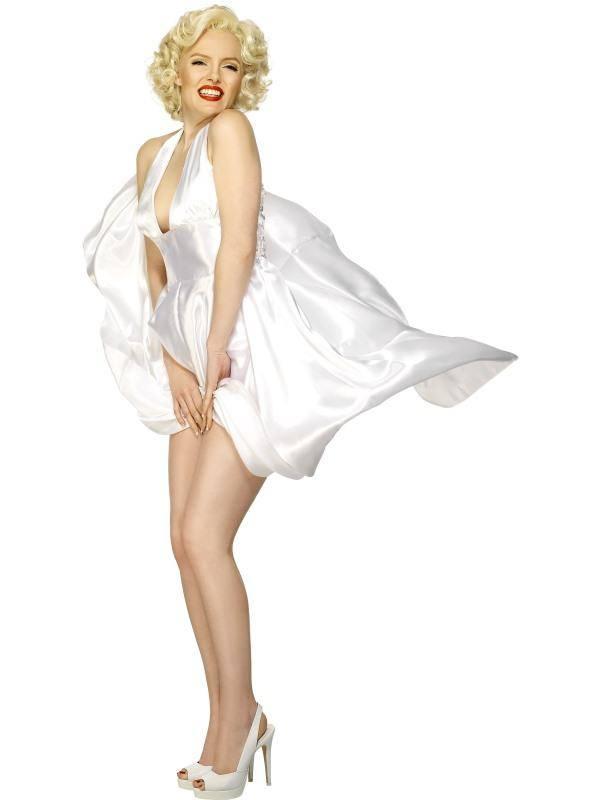 Marilyn Monroe Klasszikus Fehér Ruhája Jelmez Nőknek - M