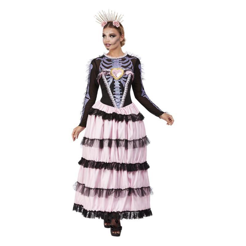 Rózsaszín Mexikói Halottak Napja Kisasszony Jelmez Nőknek Halloweenre - S