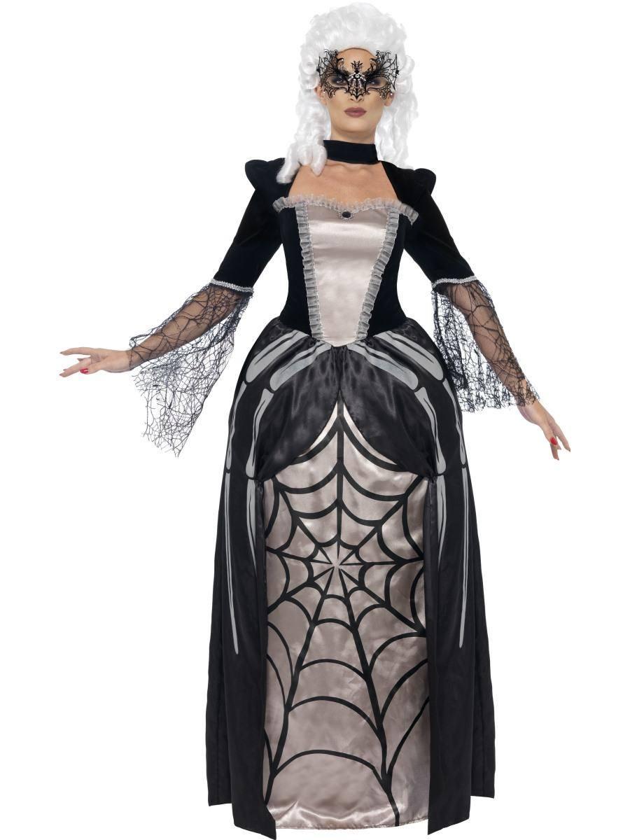Fekete Özvegy Bárónő Jelmez Nőknek Halloweenre