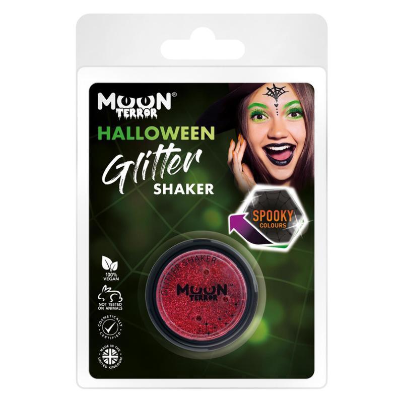 Piros Csillámpor Csomagolásban Halloweenre - 5 g