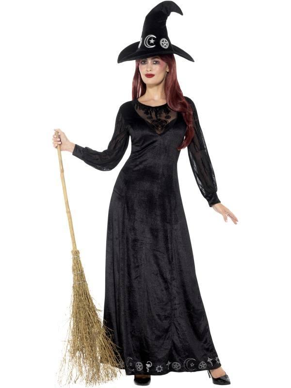 Fekete Ravasz Boszorkány Női Jelmez - XS  8424e0a871
