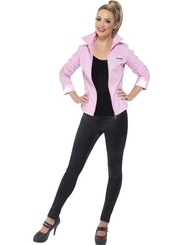 Rózsaszín Grease Pink Ladies Kabát Jelmez Nőknek - M