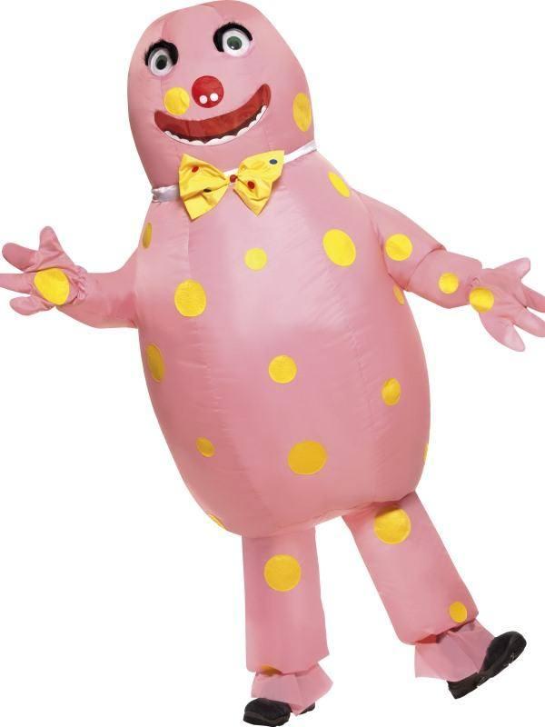 Rózsaszín Mr Blobby Jelmez Férfiaknak Kesztyűvel - M