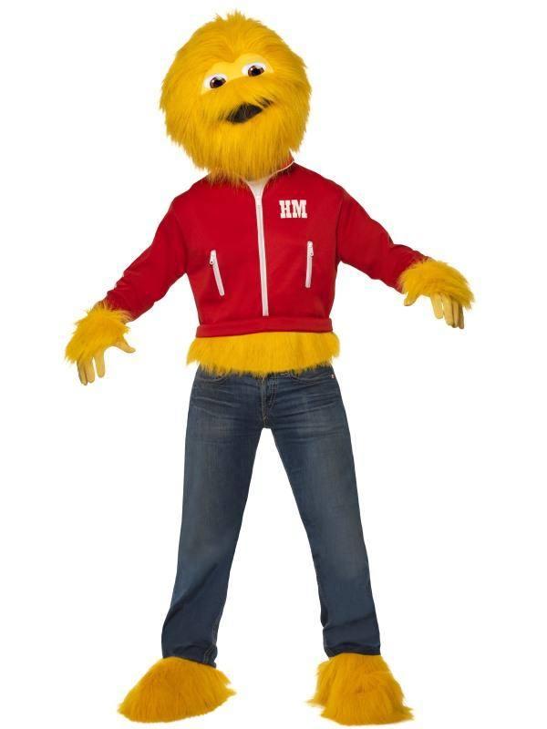 Sárga Honey Monster Szörny Jelmez Férfiaknak Maszkkal, Kabáttal, Kesztyűvel és Cipőtakaróval - M
