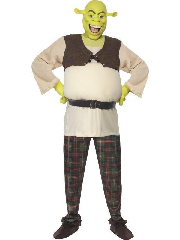 Shrek Jelmez Férfiaknak Felsővel, Nadrággal, Kézzel és Maszkkal - L