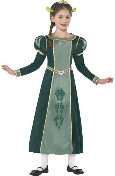 Zöld Shrek Fiona Hercegnő Jelmez Kislányoknak
