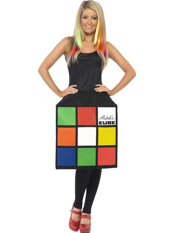 Színes 3D Rubik Kocka Jelmez Nőknek Ruhával - M