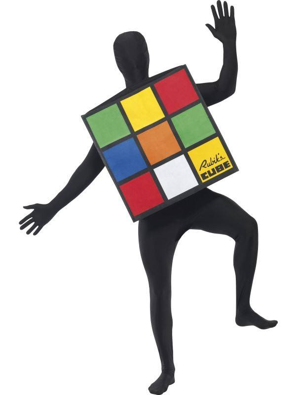 Színes Rubik Kocka Jelmez Felnőtteknek