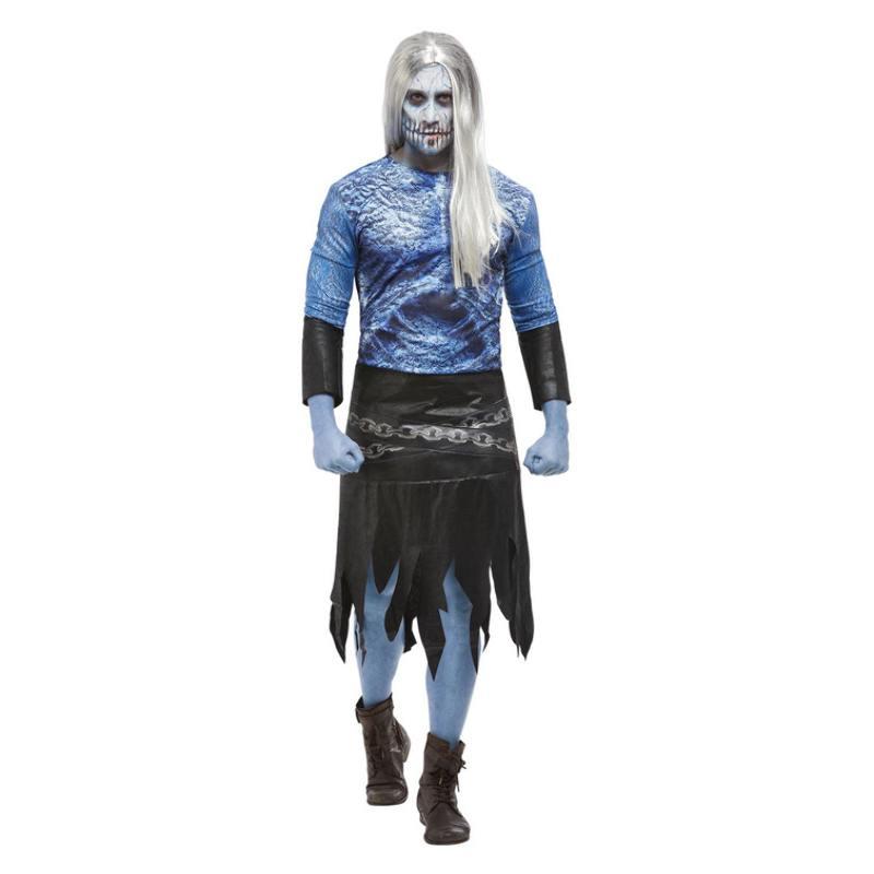 Kék Tél Harcosa Zombi Jelmez Férfiaknak Halloweenre - L