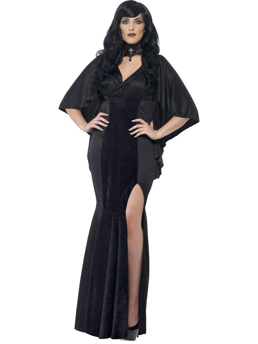 Fekete Vámpír Jelmez Nőknek Halloweenre