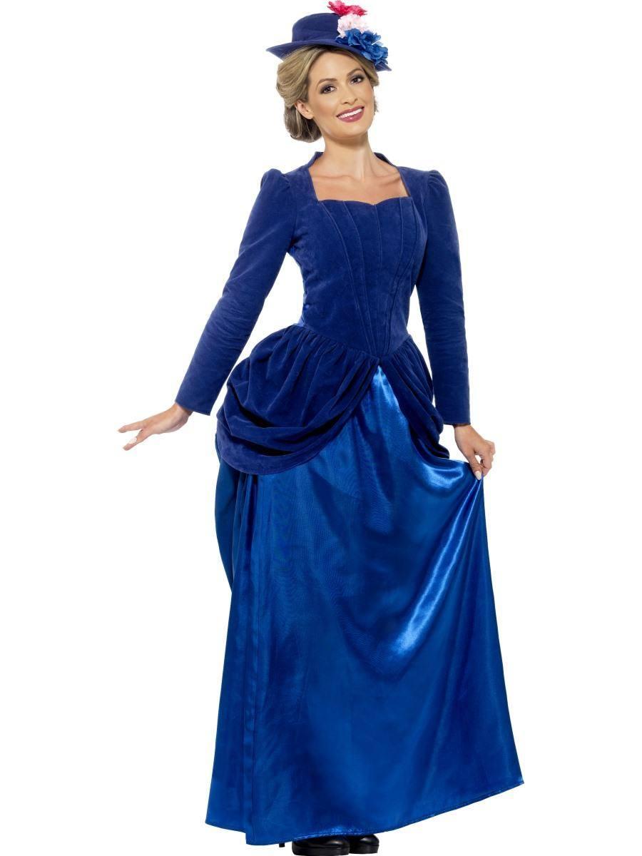 Kék Viktoriánus Jelmez Nőknek