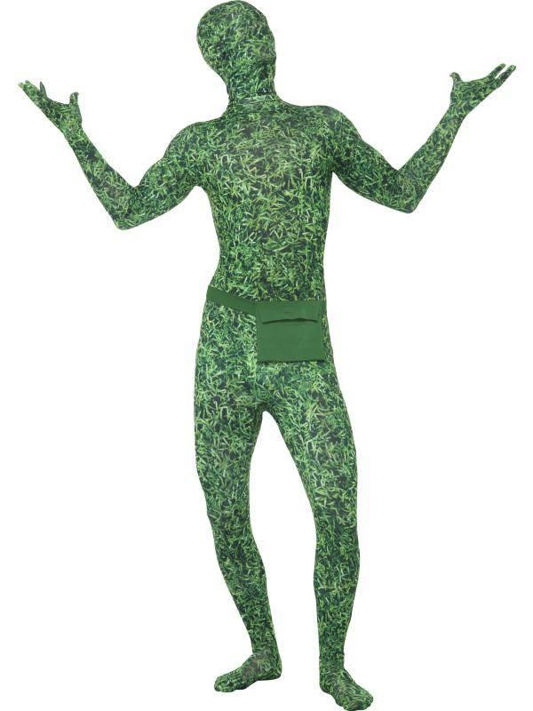 Zöld Fűmintás Testhez Álló Jelmez Férfiaknak - L