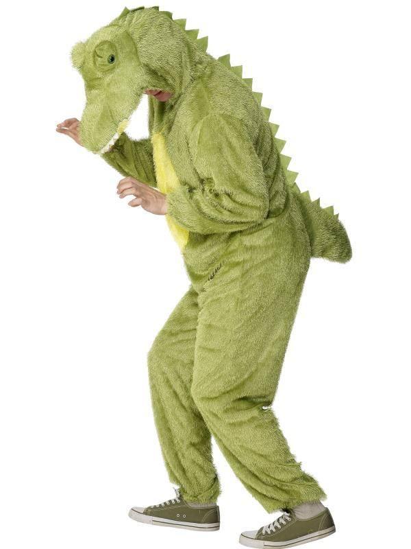 Zöld Krokodil Jelmez Férfiaknak Kapucnis Kezeslábassal - L