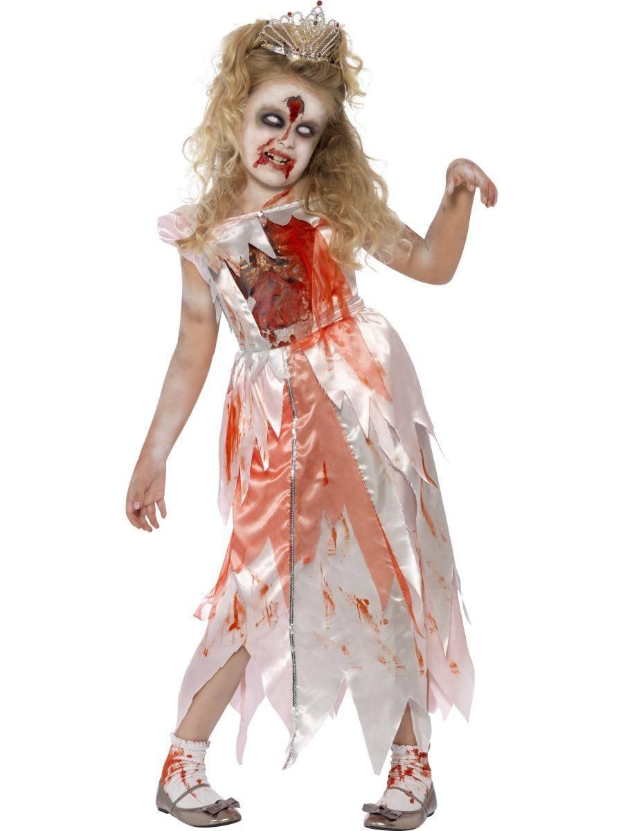 Rózsaszín Zombi Csipkerózsika Jelmez Kislányoknak Halloweenre