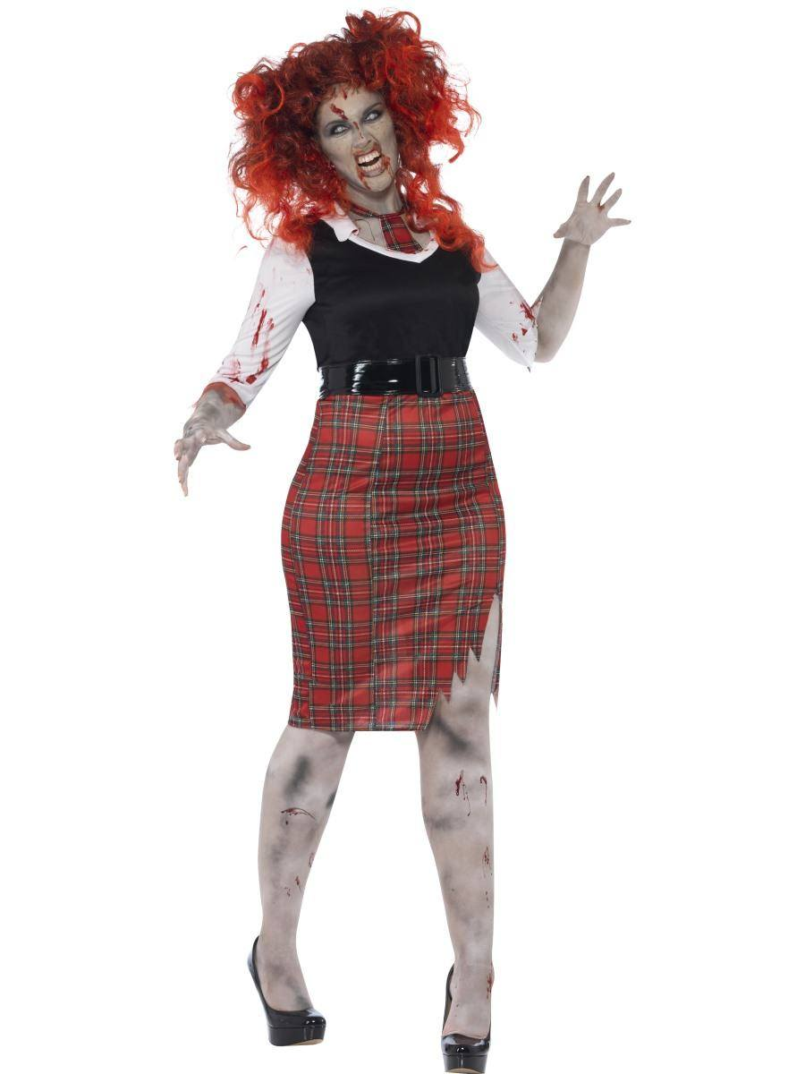 Zombi Diáklány Jelmez Nőknek Halloweenre