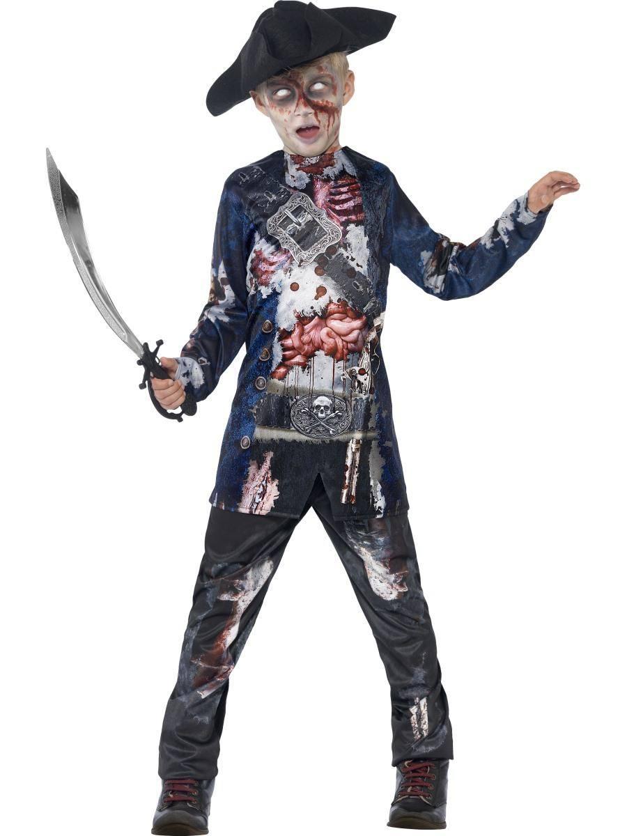 Zombi Kalóz Jelmez Kisfiúknak Halloweenre