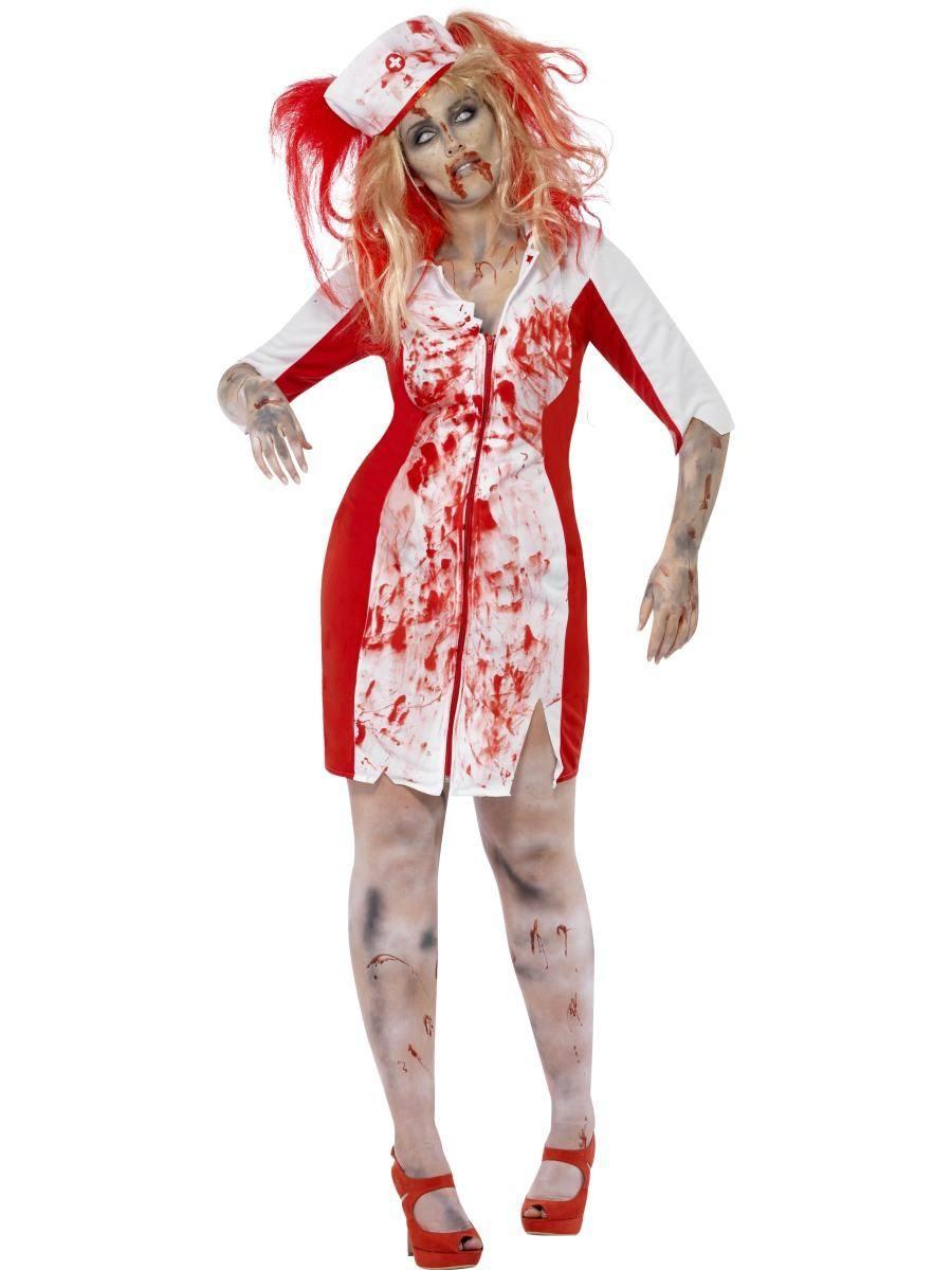 Fehér Zombi Nővér Jelmez Nőknek Halloweenre