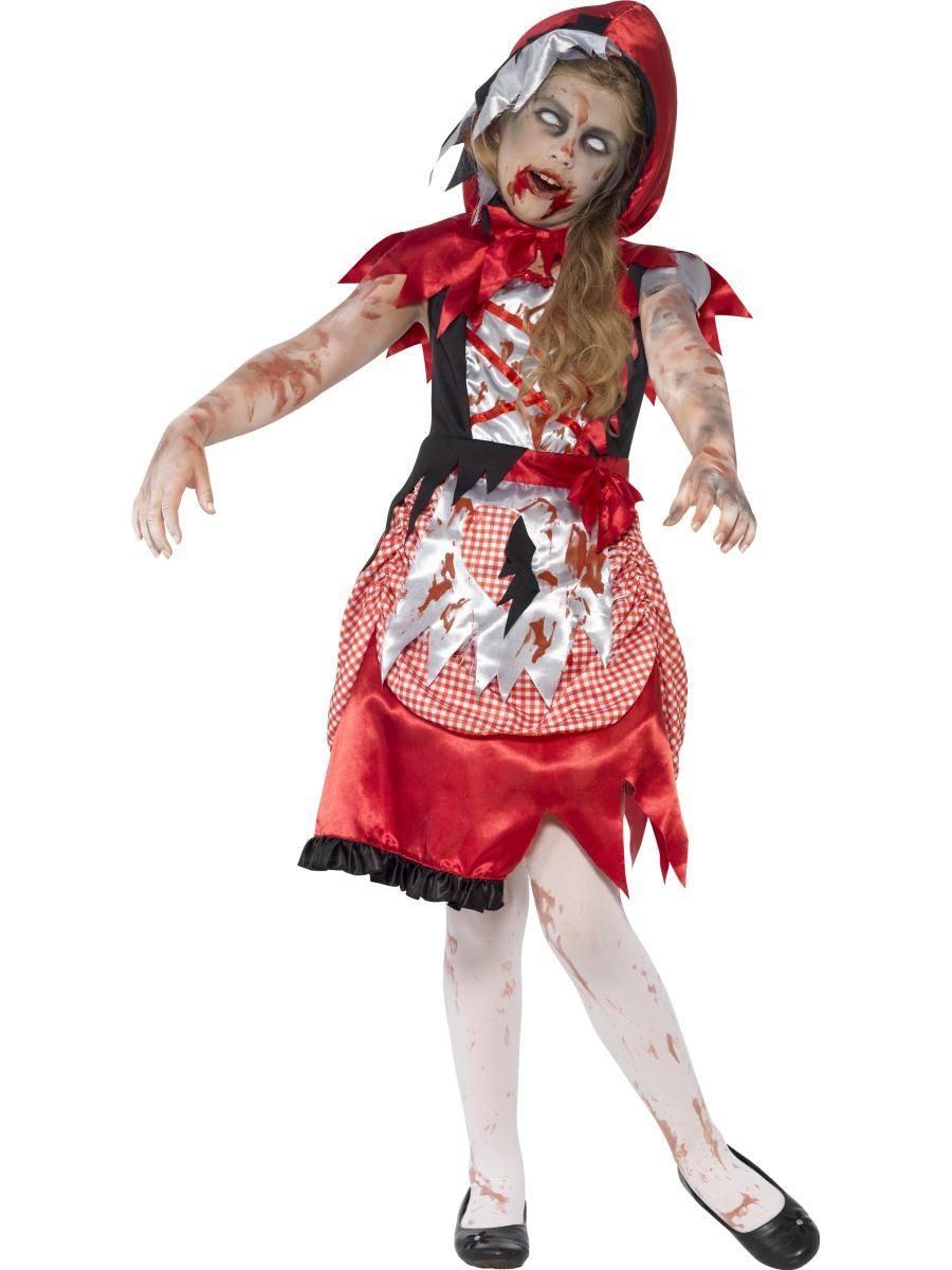 Piros Zombi Piroska Jelmez Kislányoknak Halloweenre
