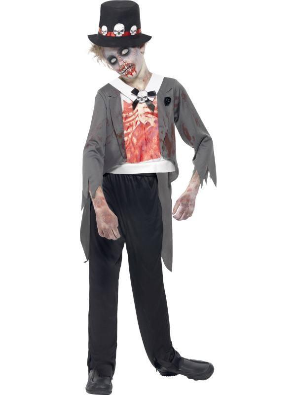Fekete Zombi Vőlegény Jelmez Kisfiúknak Halloweenre