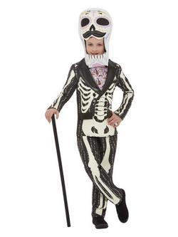 Mexikói Halottak Napja Csontváz Mintás Kisfiú Jelmez Halloweenre
